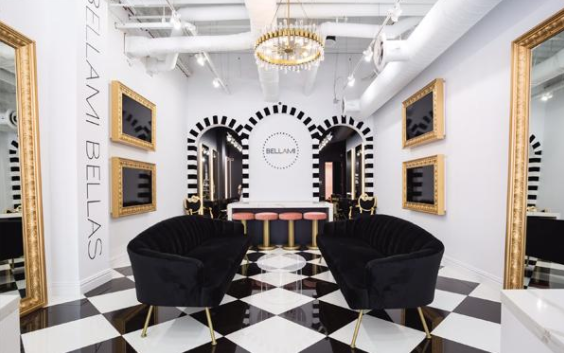 Innovative Bellami Beauty Salon Opens In Miami Glam Piece New Right At Home Furniture Concept Interior